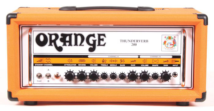 orange amps th200htc thunderverb guitar amplifier head 200 watts with foot switch attenuator. Black Bedroom Furniture Sets. Home Design Ideas