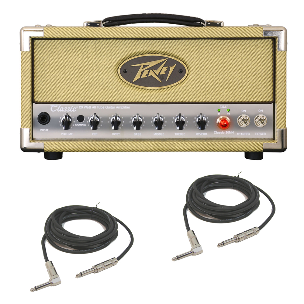 peavey classic 20 mh mini head electric guitar 20w tube amp head cables pev15 3614150 rs pack. Black Bedroom Furniture Sets. Home Design Ideas
