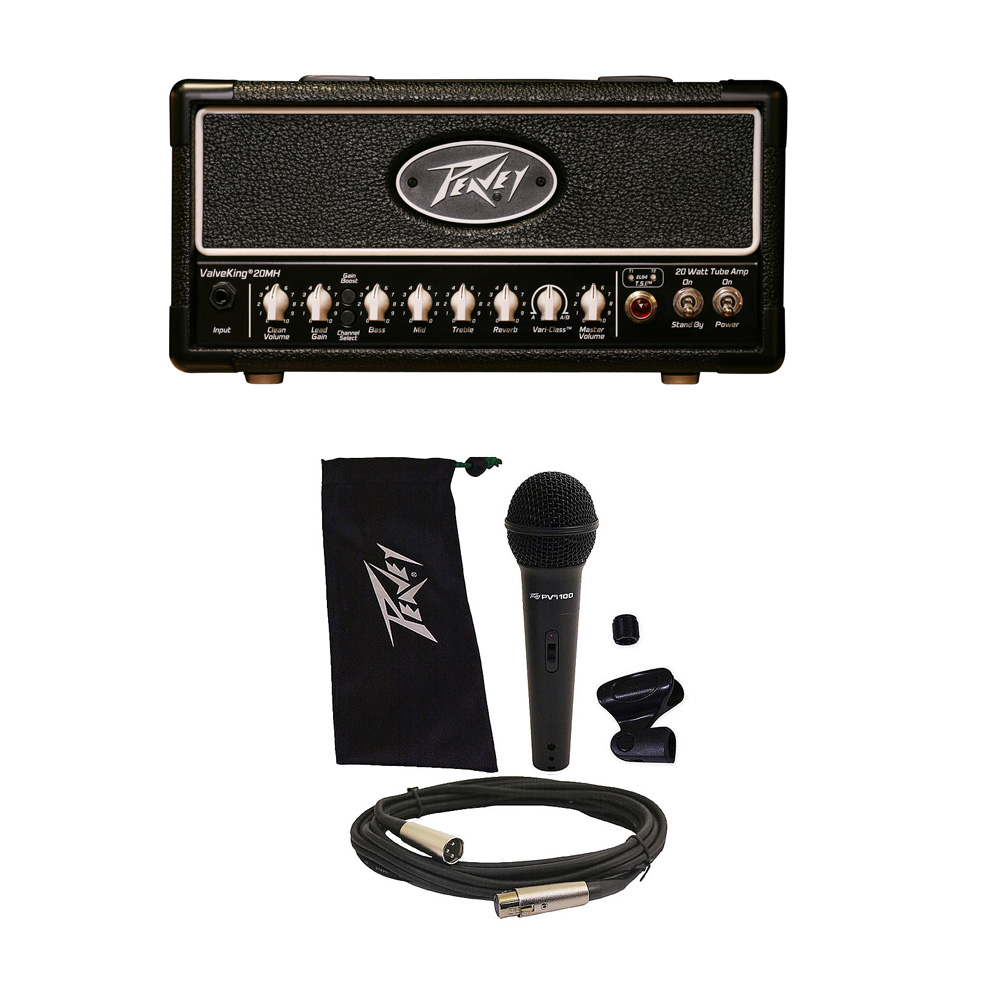 peavey valveking 20 mh micro head electric guitar amplifier tube amp head mic pev16 package104. Black Bedroom Furniture Sets. Home Design Ideas