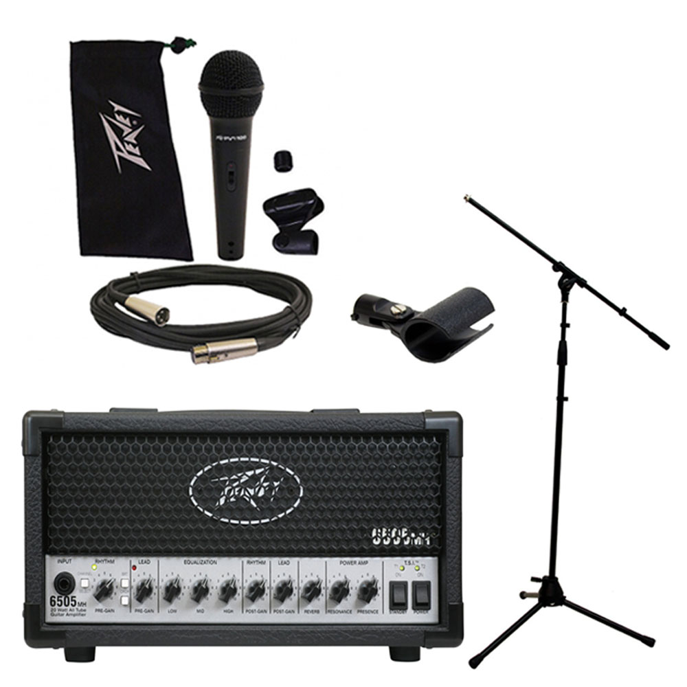 peavey 6505 mh mini head electric guitar 20w tube amp amplifier w mic stand pev16 package68. Black Bedroom Furniture Sets. Home Design Ideas