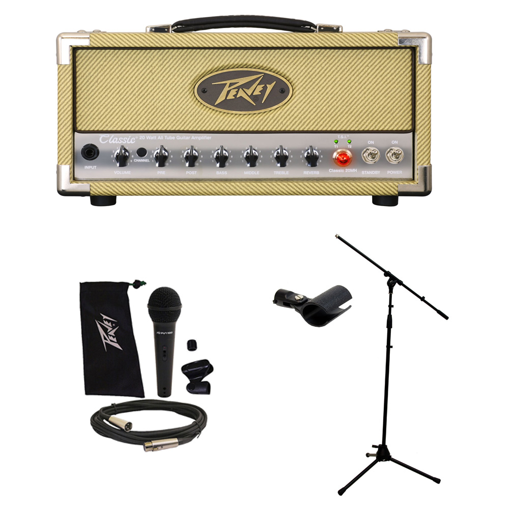 peavey classic 20 mh micro head electric guitar amp w mic stand package new pev16 package98. Black Bedroom Furniture Sets. Home Design Ideas