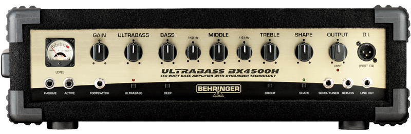 behringer ultrabass bx4500h 450 watt bass amplifier head w ultrabass processor shape filter. Black Bedroom Furniture Sets. Home Design Ideas