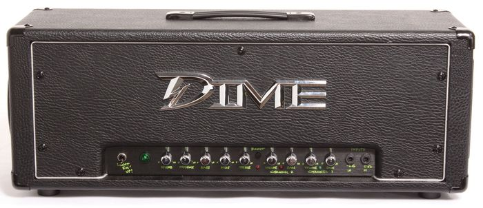 Dime Electric Guitar Amplification 120W 2 Channel Head Amplifier with FS1 Footswitch - Custom Black Amp (D100 BLK)