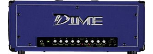 Dime Electric Guitar Amp 120 Watt 2-Channel Head Amplifier with FS1 Footswitch - Custom Purple (D100 PRP)