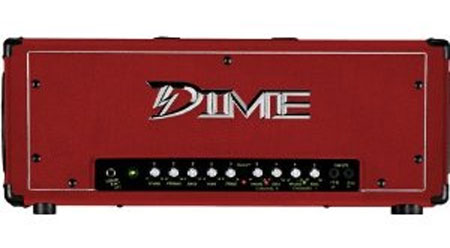 Dime Electric Guitar Amplification 120W 2 Channel Head Amplifier with FS1 Footswitch - Custom Red Amp (D100 RED)