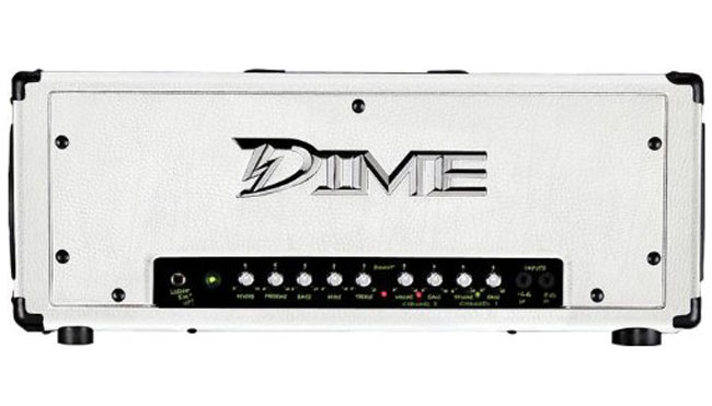 Dime Electric Guitar Amp 120 Watt 2-Channel Head Amplifier with FS1 Footswitch - Custom White (D100 WHT)