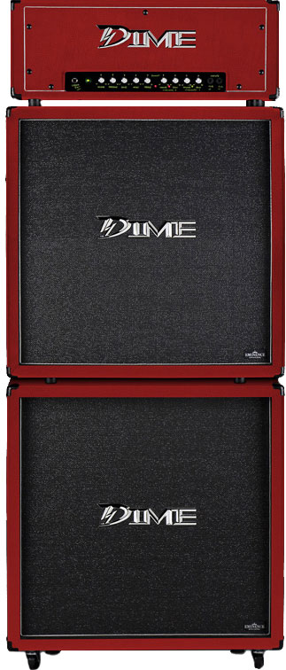 "Dime Amplification D412 Slanted 4 x 12"" SPEAKER CABINET - Red Color D412SLRED (D412 SL RED)"