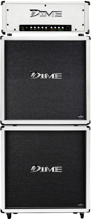 "Dime Amplification D412 Straight 4 x 12"" SPEAKER CABINET - White Color D412STWHT (D412 ST WHT)"