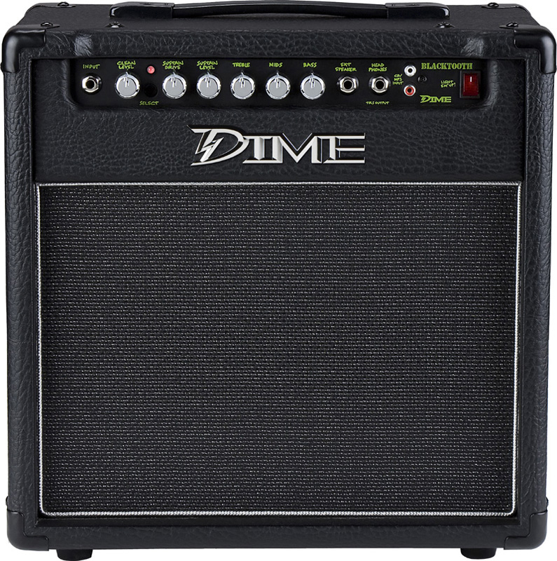 dime electric guitar amp black tooth combo amplification w 10 eminence speaker 2 channel. Black Bedroom Furniture Sets. Home Design Ideas