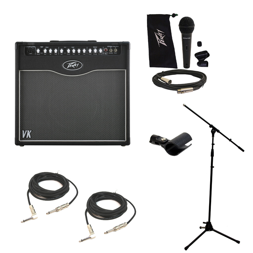 peavey valveking combo 50 electric guitar amp 50w 12 speaker mic stand cables pev16 package106. Black Bedroom Furniture Sets. Home Design Ideas