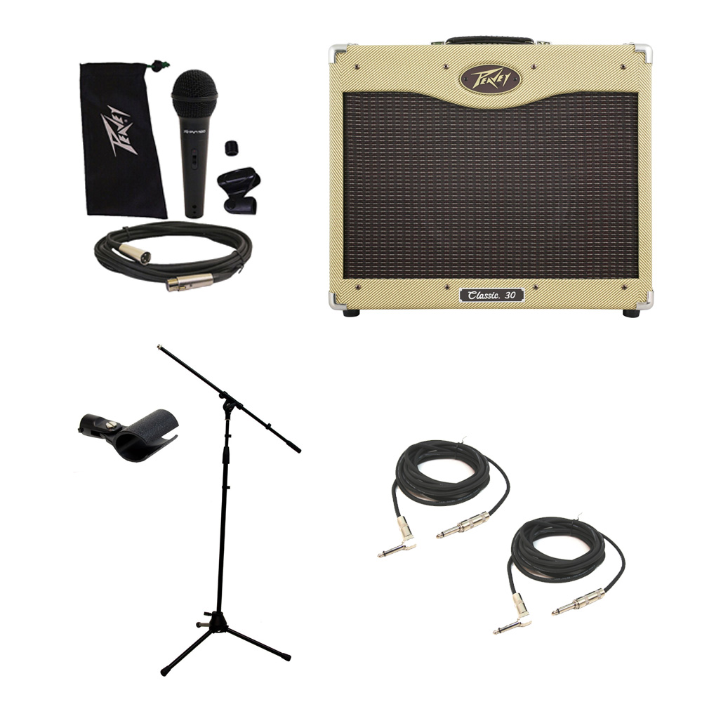 peavey classic 30 112 electric guitar combo 30w amp 12 speaker mic stand cables pev16 package97. Black Bedroom Furniture Sets. Home Design Ideas