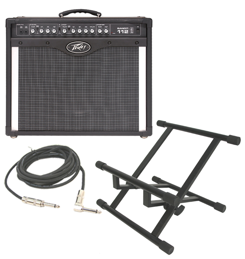 peavey bandit 112 transtube 100 watt guitar amp amplifier with stand 1 4 to 1 4 cable. Black Bedroom Furniture Sets. Home Design Ideas