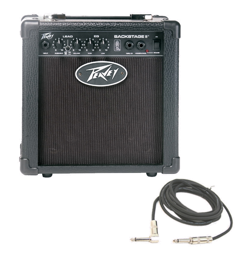 peavey backstage 2 channel 10 watt guitar combo 6 speaker transtube amplifier with 1 4. Black Bedroom Furniture Sets. Home Design Ideas