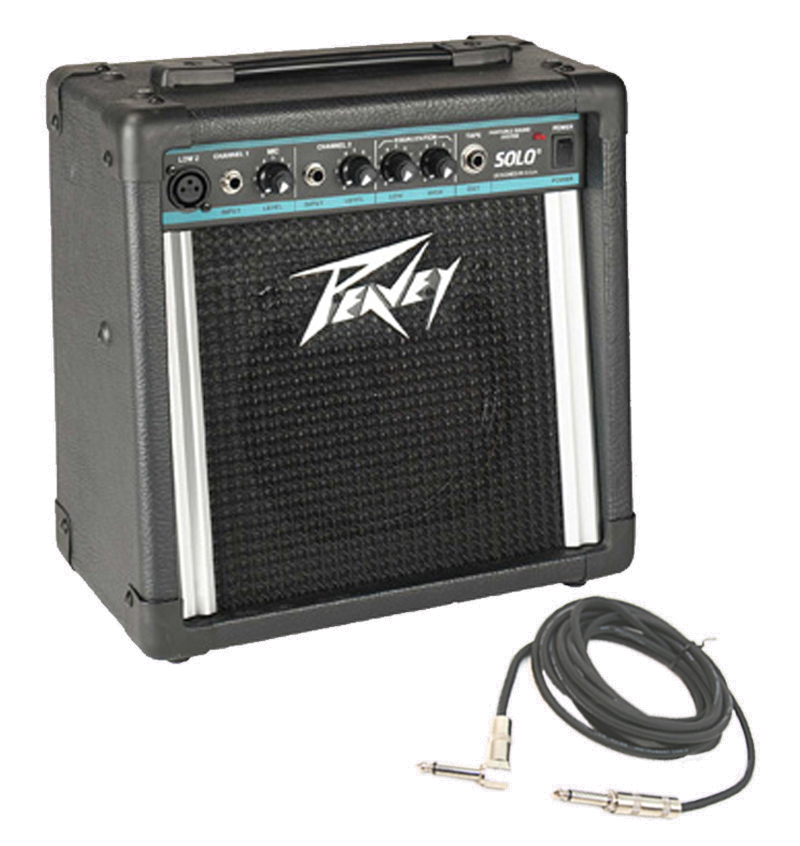peavey solo electric guitar combo 12w amp 8 speaker with 1 4 instrument cable peavey package 35. Black Bedroom Furniture Sets. Home Design Ideas