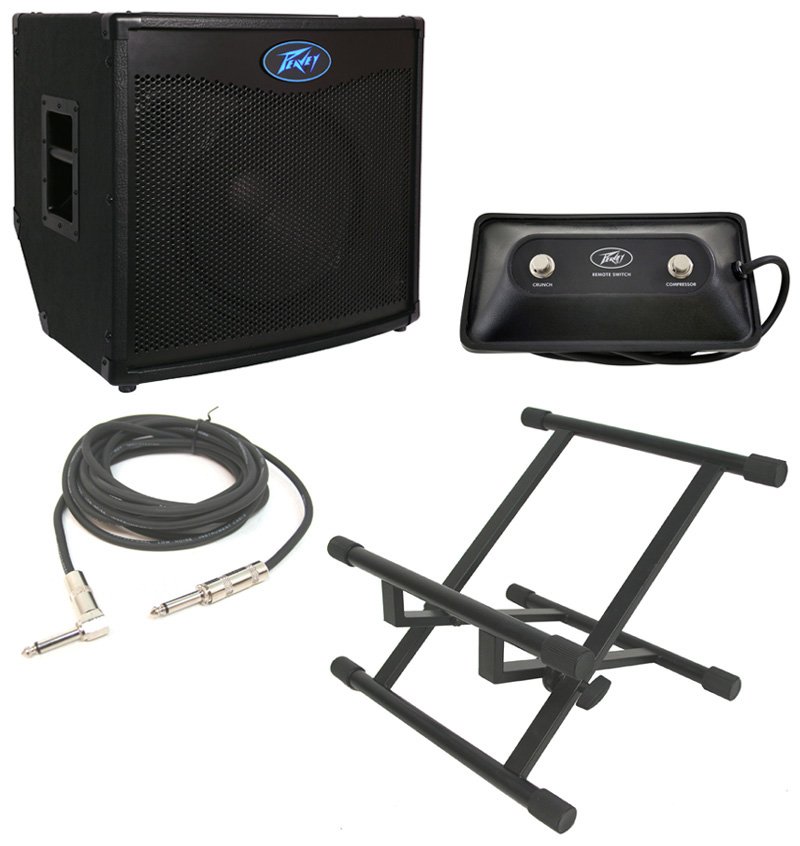 peavey tnt115 bass guitar combo 600 watt amp 15 speaker with footswitch stand 1 4 cable. Black Bedroom Furniture Sets. Home Design Ideas