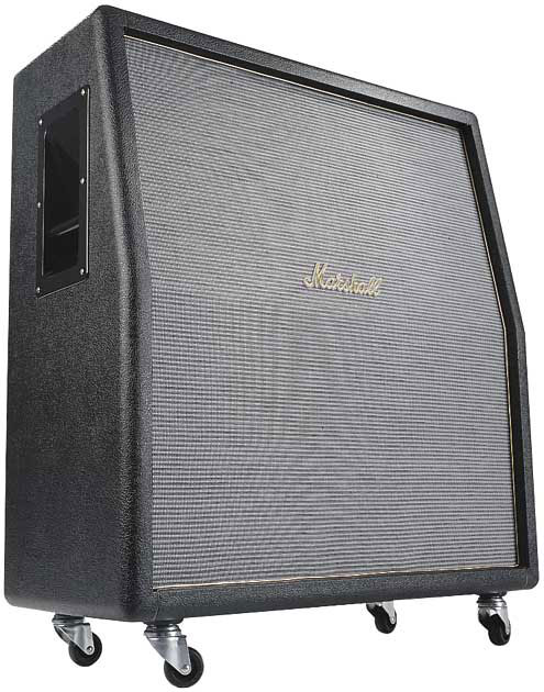 marshall m 1960tv u tall angled guitar speaker cabinet with 4 x 12 celestion greenback speakers. Black Bedroom Furniture Sets. Home Design Ideas