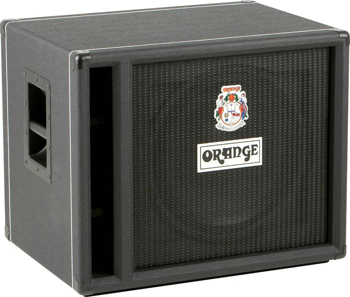 orange amps obc115 1x15 400w bass speaker cabinet side ported black obc 115 blk org12. Black Bedroom Furniture Sets. Home Design Ideas