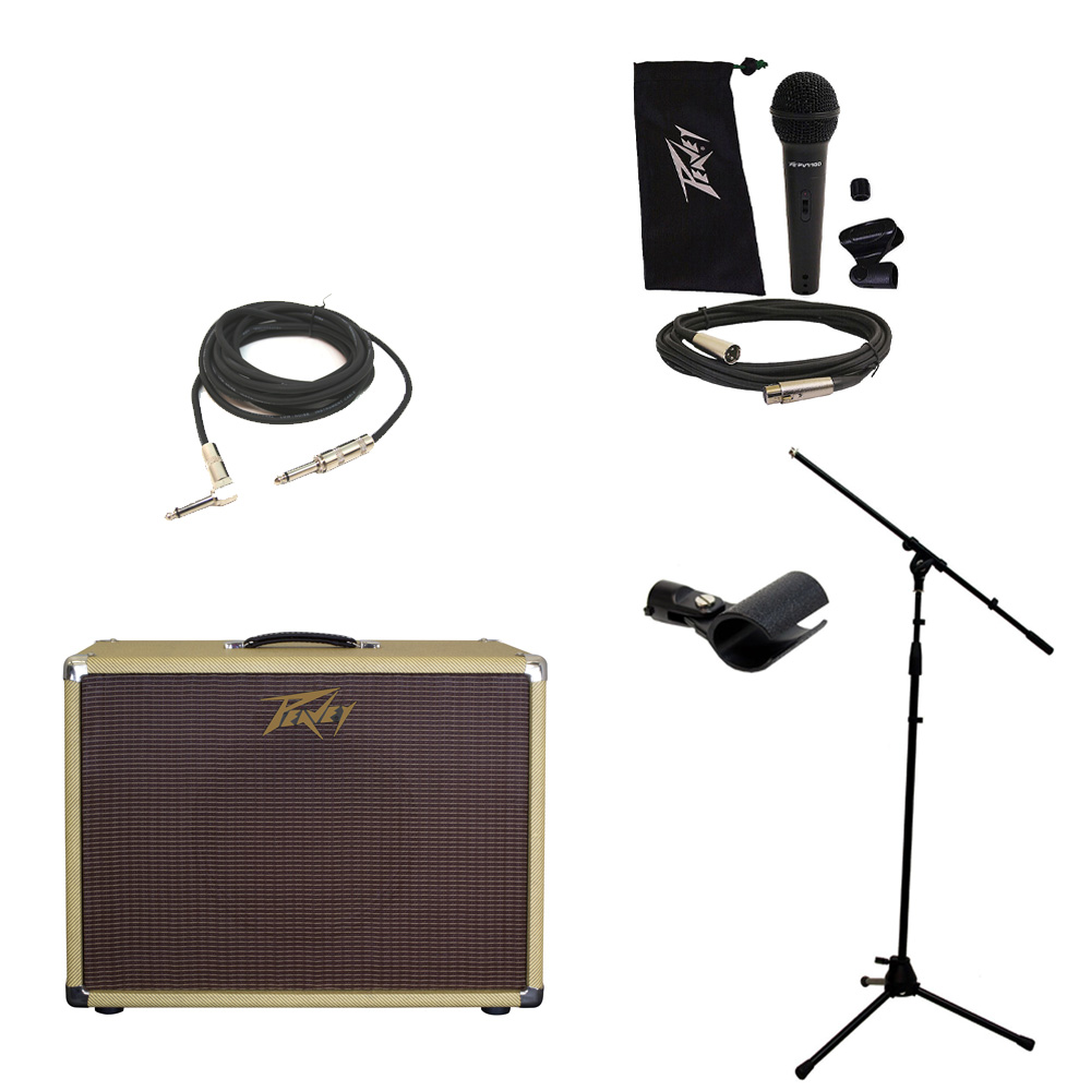 peavey classic 112 c electric guitar cab single 12 speaker cabinet mic stand pev16 package107. Black Bedroom Furniture Sets. Home Design Ideas
