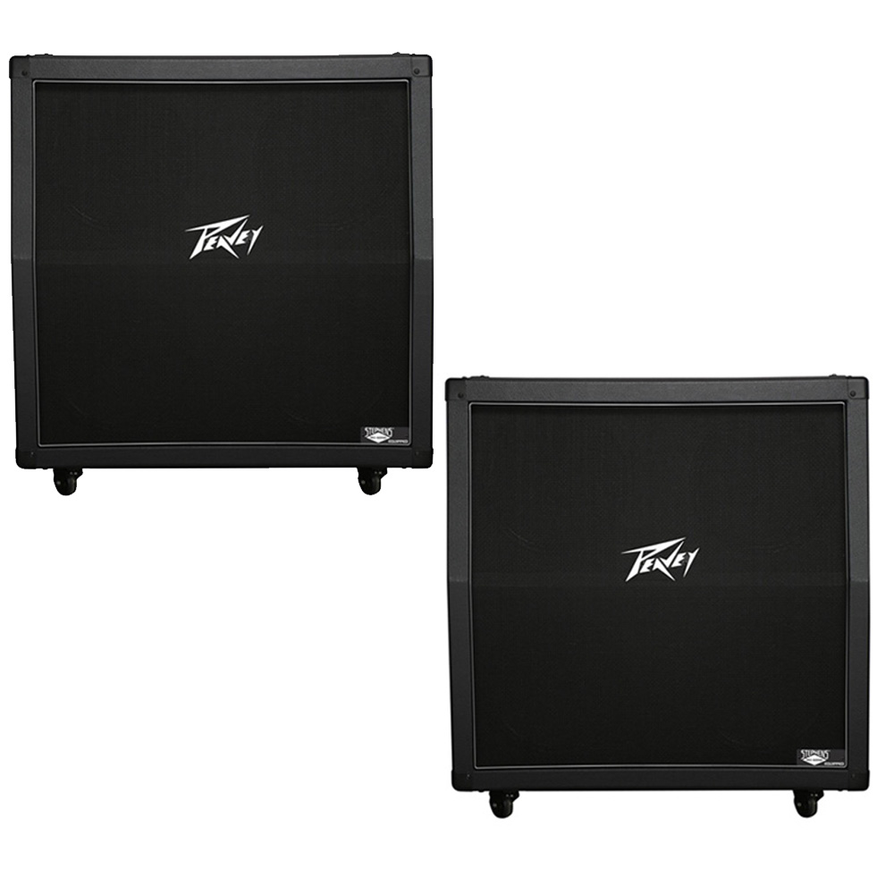 2 peavey 430a 412 guitar slant cabinet celestion greenback 4 12 speakers ebay. Black Bedroom Furniture Sets. Home Design Ideas