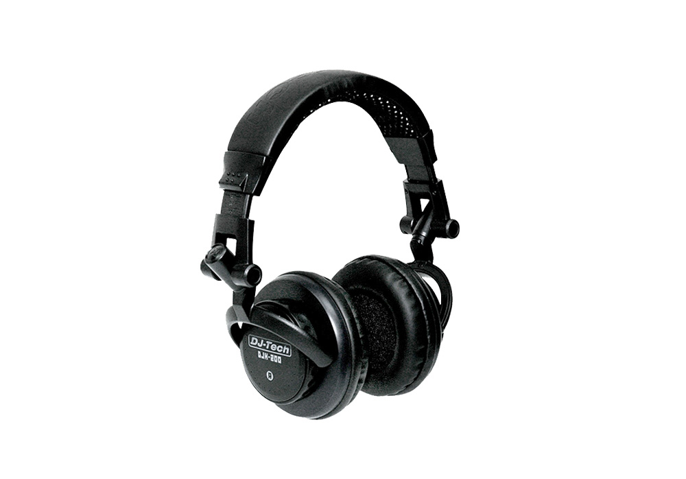 DJ Tech DJH200 Professional Headphones with 100 Mw Max Power