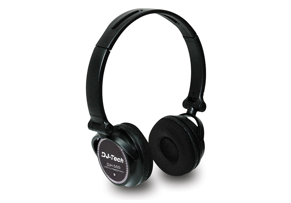 DJ Tech DJH555 USB Headphones with Soundcard Built-In
