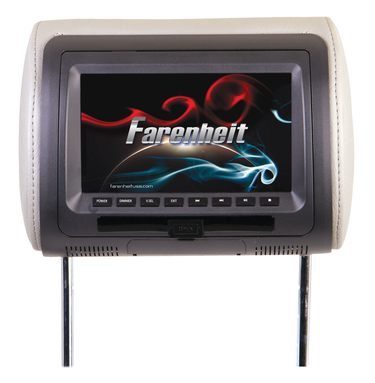 Farenheit HRD-71CC 7 Inch LCD Universal Replacement Headrest with DVD Player