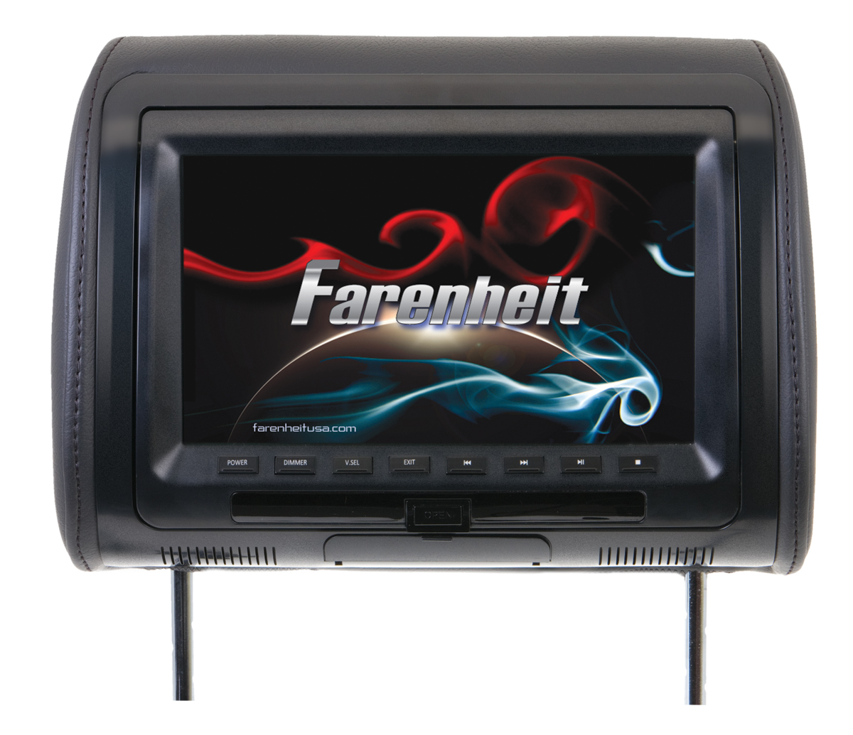 Farenheit HRD-91CC Top Quality 9 Inch LCD Replacement Headrest w/ DVD Player