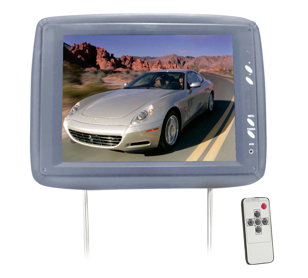 """PYLE PL1104HRGR Headrest with 11.3"""" LCD Monitor and IR Transmitter"""