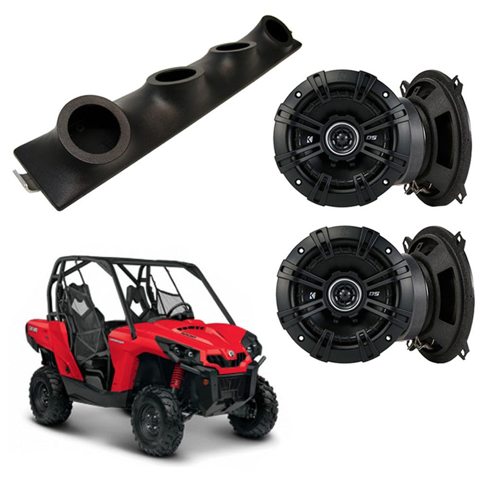 "Honda Pioneer Kicker System DSC50 Custom Quad (4) 5 1/4"" Speakers Power Sports UTV Pod"
