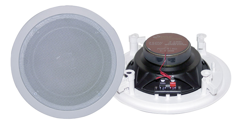 Pyle Home Audio PDIC81RD 8' Two-Way In-Ceiling Speaker System (Pair)