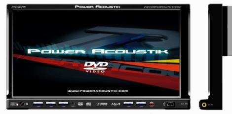 In Dash LCD Monitors 2008 PTID 8001N detailed image 1 power acoustik ptid 8001n car audio double din 8\