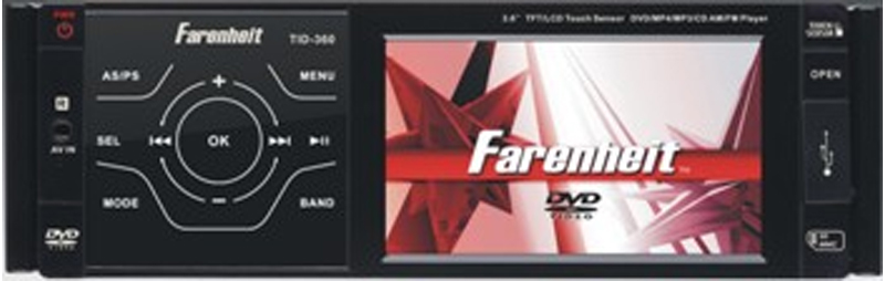 Farenheit TID-360T 3.6?, Ghost face, Feather Touch Keys Analog TV Tuner