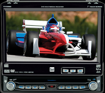 Dual XDVD8182 Car Stereo In-Dash Mobile Video AM/FM/CD/DVD Player LCD Monitor