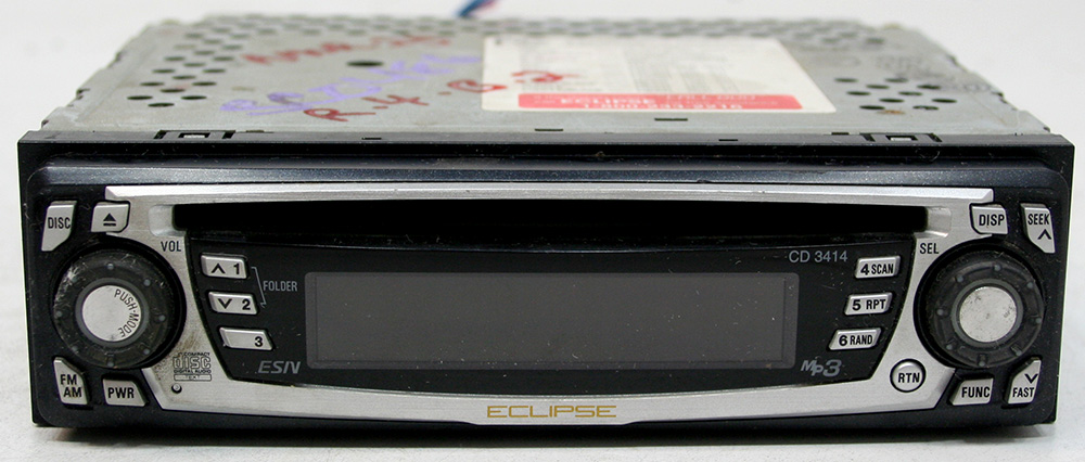 Eclipse CD 3414 Aftermarket Used 40 Watts x 4 MP3 CD Player Radio RCA Preouts