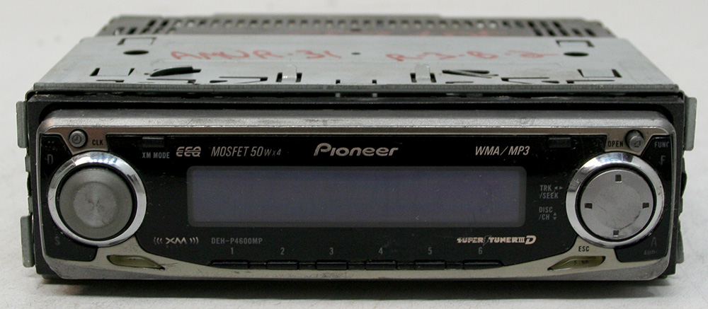 pioneer deh p4600mp aftermarket used 50 watts x 4 cd player radio aux 2 rca preouts  pioneer deh p4600mp wiring diagram #13