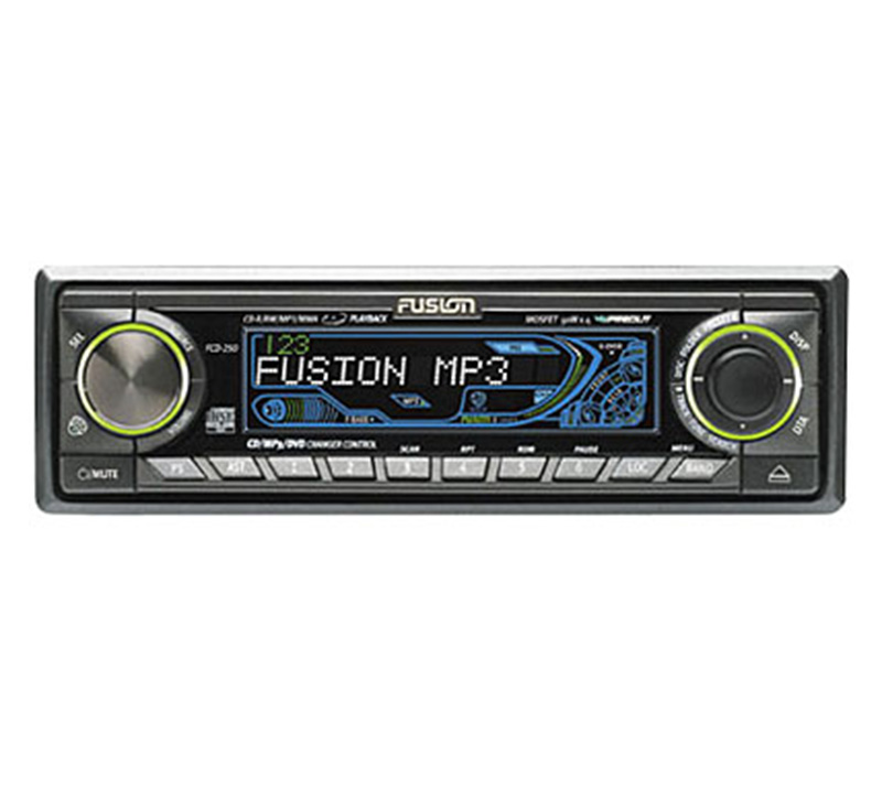 Fusion Audio FCD-250 Car Stereo Motorized Face 200W MP3 CD Player - 6 x RCA Out