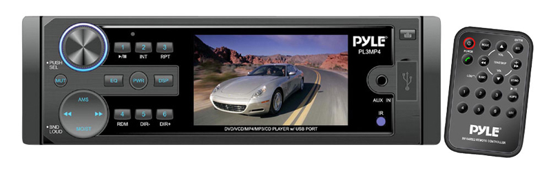Pyle Car Audio PL3MP4 3' TFT/LCD Monitor MP3/MP4/SD/USB Player & AM/FM Receiver