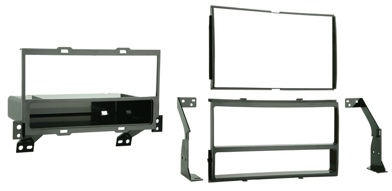 Metra 99-7422 Single/Double DIN Dash Installation Kit for 2007-2012 Nissan Sentra Vehicles