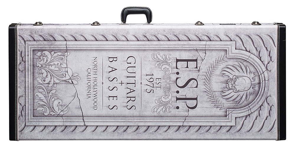 ESP TOMBSTONE V FF CASE Tombstone Hard Shell Arrow Series Case for V Guitar Models (CTOMBVFF)