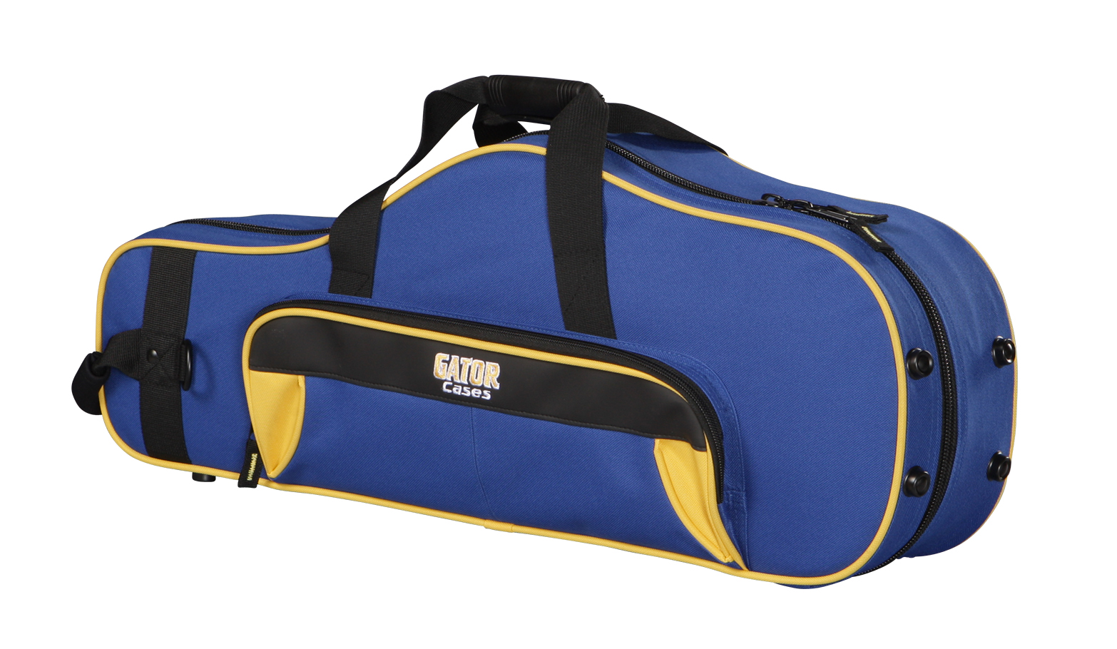 Gator Cases GL-ALTOSAX-YB Spirit Series Lightweight Alto Sax Case Yellow & Blue with Removable Shoulder Strap