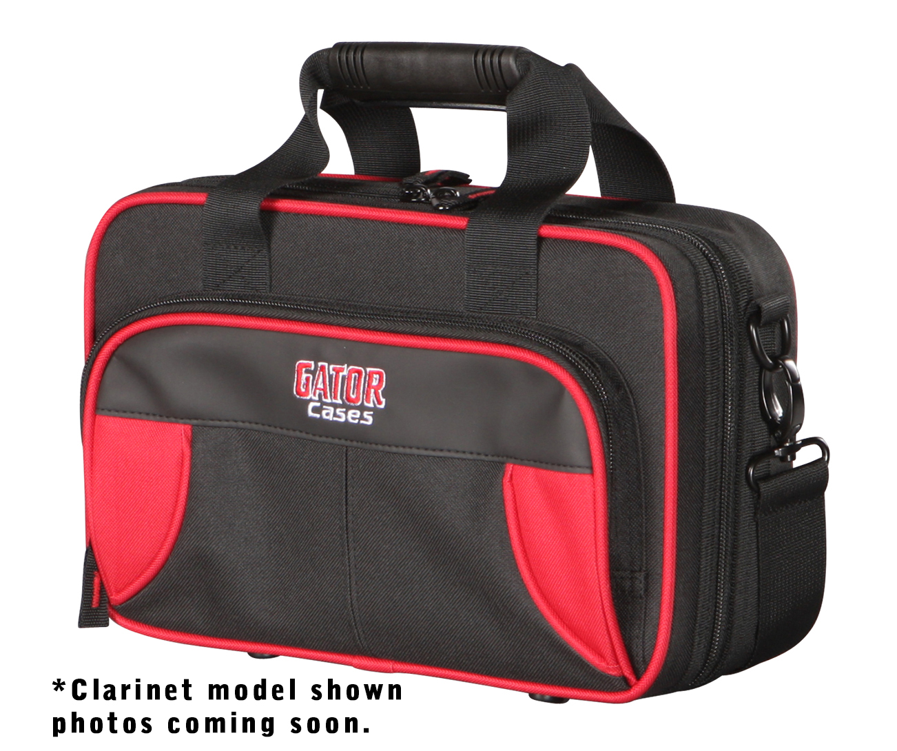 Gator Cases GL-FLUTE-RK Lightweight Spirit Series Flute Case Red & Black with Removable Shoulder Strap