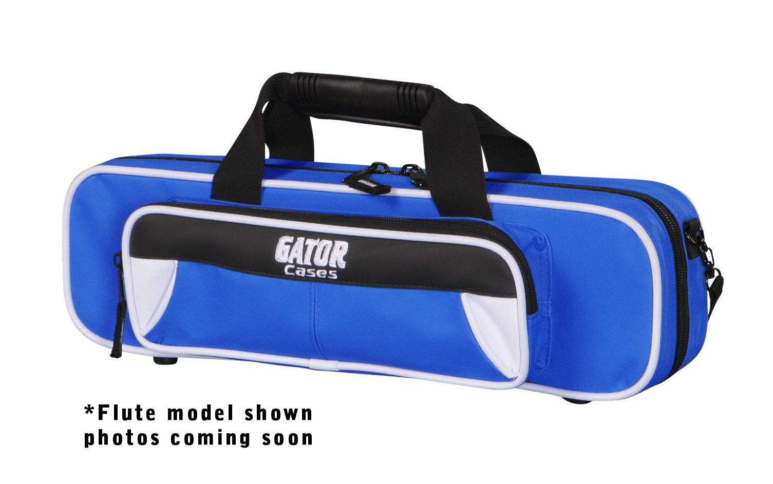 Gator Cases GL-TRUMPET-WB Spirit Series Trumpet Case White & Blue with Lightweight Nylon Lightweight Exterior