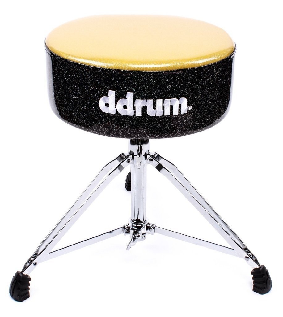 """dDrum Mercury Series Fat Throne with 5.5"""" Thick Padding - Gold Top/Black Side (MFAT GB)"""