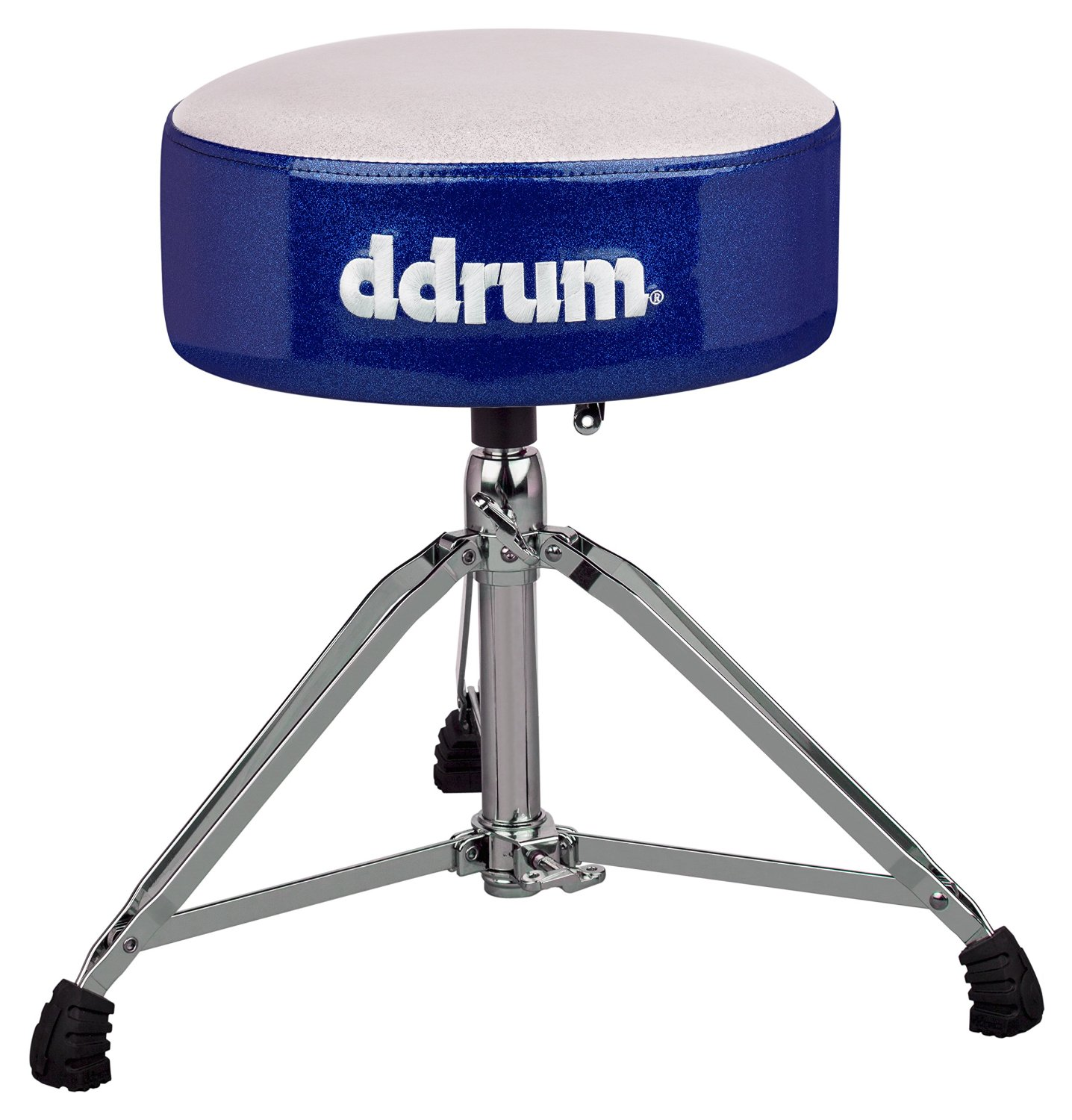 "dDrum Mercury Series Fat Throne with 5.5"" Thick Padding - White Top/Blue Side (MFAT WB)"