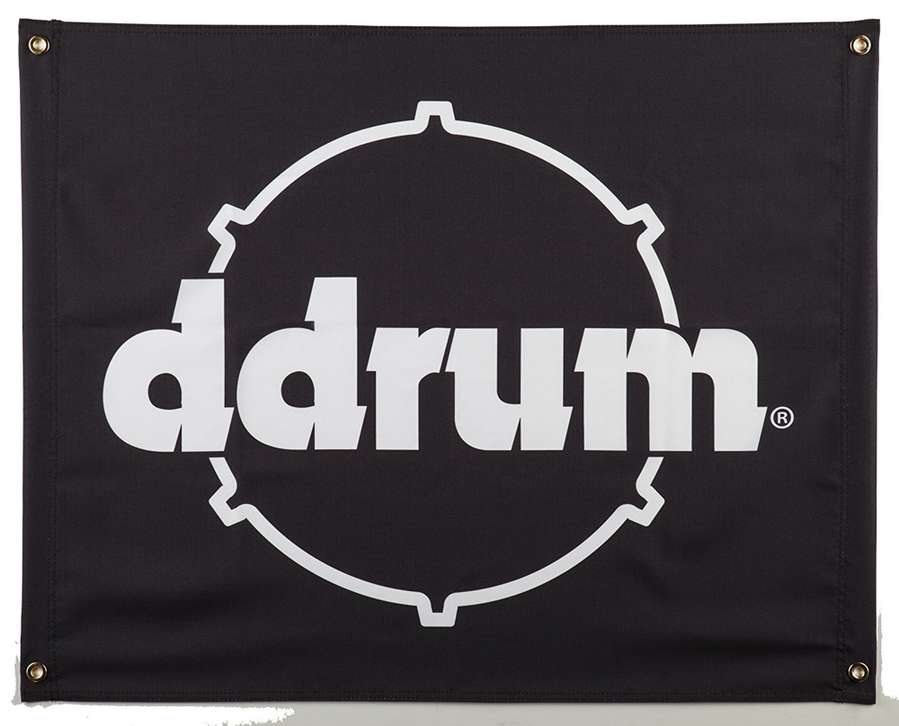 """Ddrum 9""""X7"""" Black Color Banner with Printed Ddrum Logo (BANNER DDRUM)"""