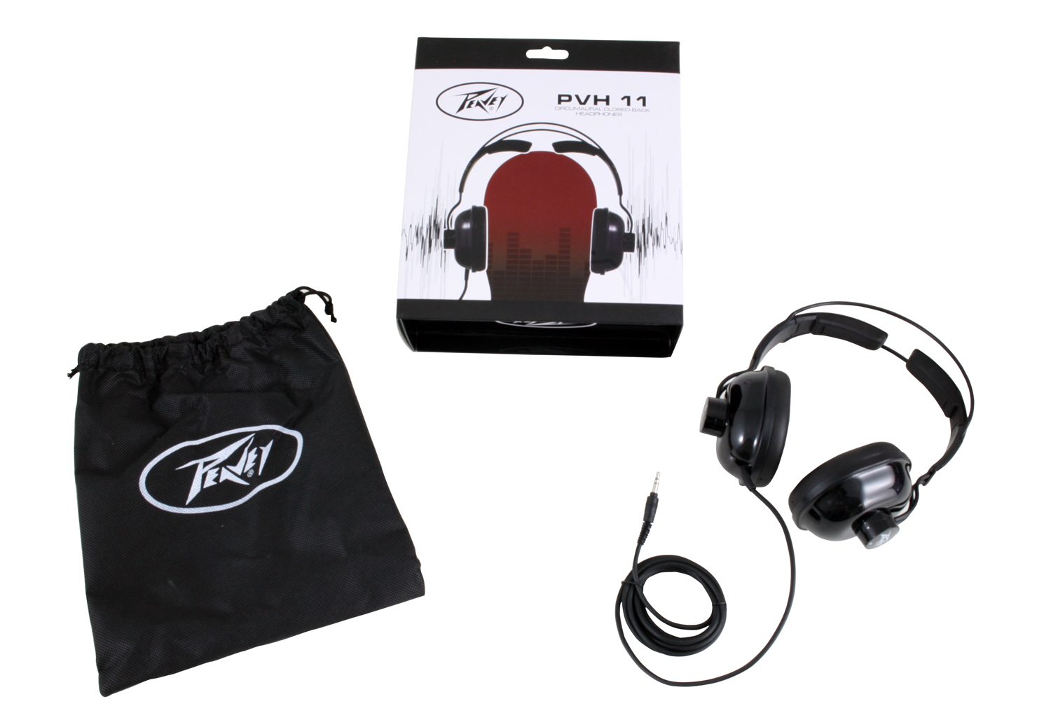 Peavey PVH 11 Headphones with Dynamic Closed-Back Design & 2 m Cable (3012480)
