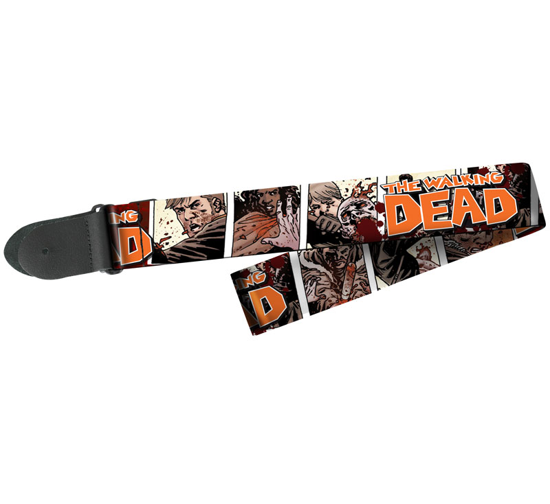 """Peavey The Walking Dead Survivors Colorful Polyester 2"""" Wide Electric or Acoustic Guitar Strap"""