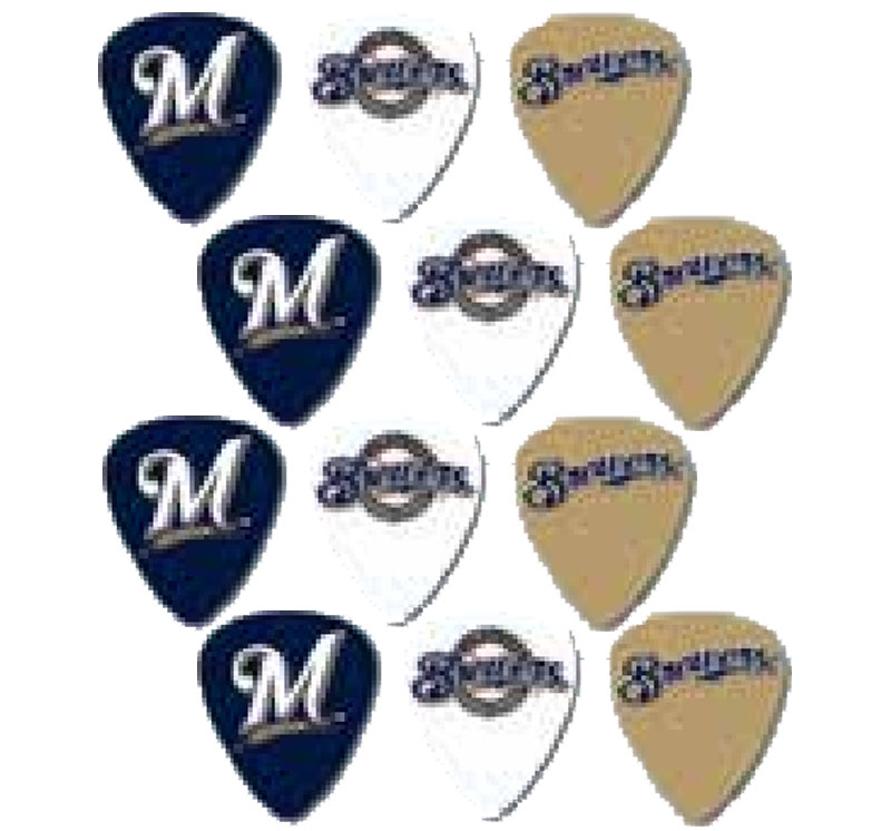 Peavey MLB Baseball Milwaukee Brewers Electric Guitar 12 Pack Logo Picks