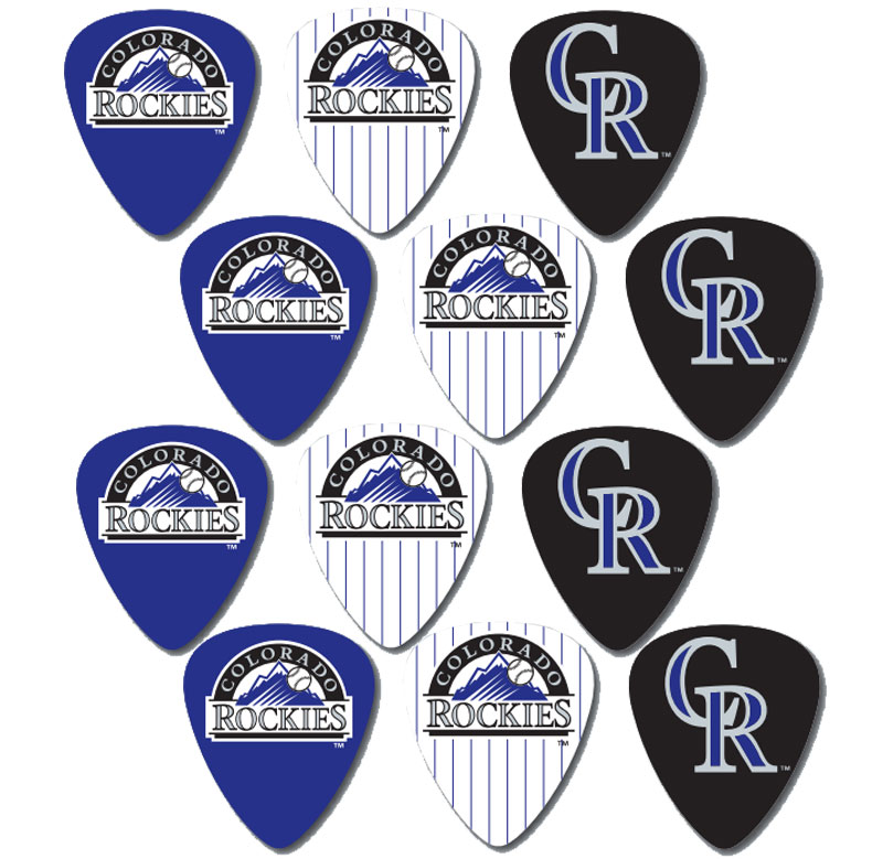 Peavey MLB Baseball Colorado Rockies Electric Guitar 12 Pack Logo Picks