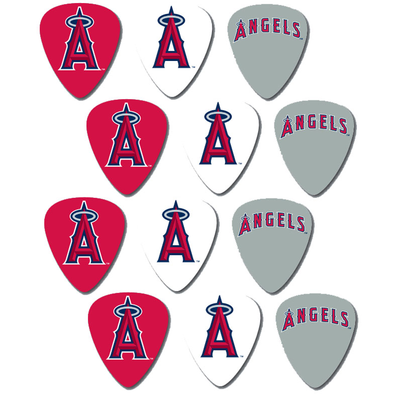 peavey mlb baseball los angeles la angels electric guitar 12 pack logo picks 14367635034 ebay. Black Bedroom Furniture Sets. Home Design Ideas